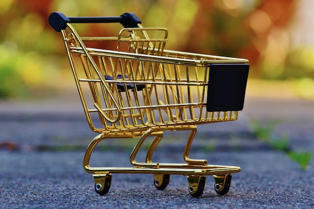 checkout process with shopping cart abandonment